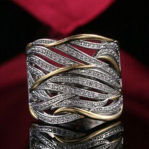 925 Silver Rings Women White Sapphire Wedding Ring